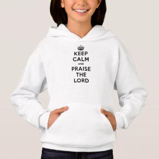 Camisetas Mantenha a calma & elogie o senhor