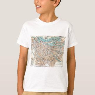 Camisetas Mapa do vintage de Amsterdão (1905)