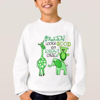Camisetas Mensagem verde do Dia da Terra