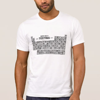 Camisetas Mesa periódica de Texting (b&w)