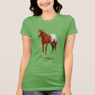 Camisetas Mim coração (amor) meu cavalo do Appaloosa da