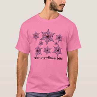Camisetas Mordida dos flocos de neve do inverno!