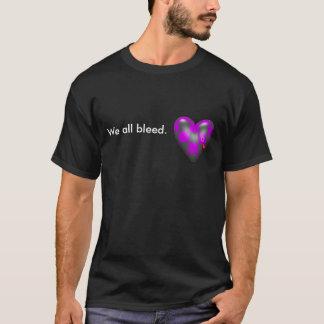 Camisetas Nós todos sangramento