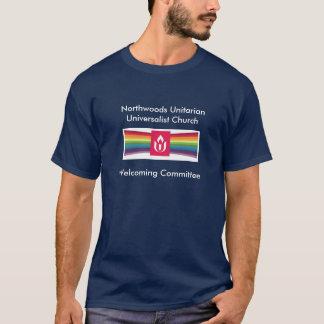 Camisetas NUUC que dá boas-vindas ao comitê T básico