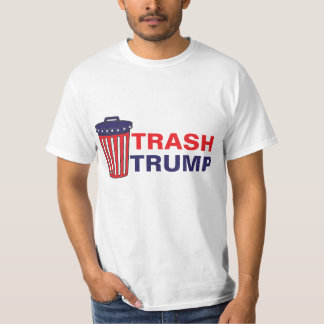 Camisetas O desperdício do trunfo do lixo vermelho, branco,