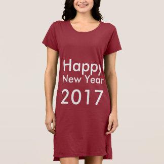 Camisetas O feliz ano novo editável 2017 do texto do modelo