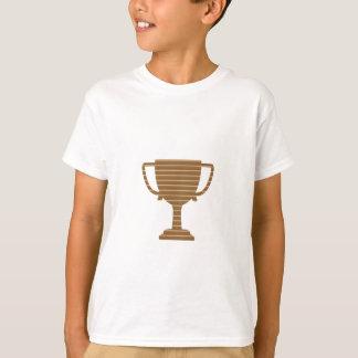 Camisetas O MODELO do troféu do ouro do vencedor adiciona o