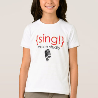 Camisetas O oficial canta o roupa do estúdio da voz