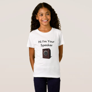 Camisetas Olá!, eu sou seu auto-falante