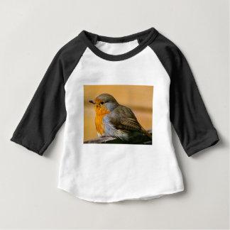 Camisetas Pássaro do pisco de peito vermelho na cerca
