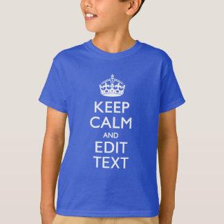 Camisetas Personalizado MANTENHA A CALMA seu texto em
