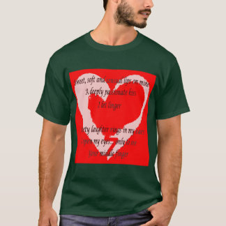 Camisetas Poema do dia dos Anti-Namorados