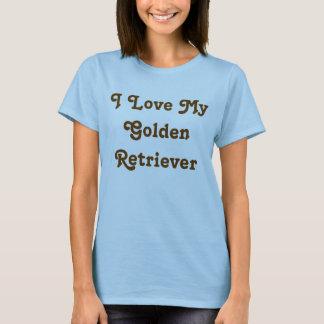 Camisetas Presentes do golden retriever: Eu amo meu