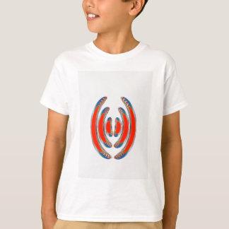 Camisetas PULSEIRA VERMELHAS: Arte decorativa abstrata em