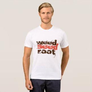 Camisetas raiz da semente da erva daninha