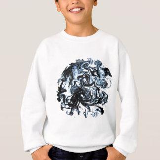 Camisetas Redemoinho azul e de tinta preta