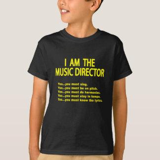 Camisetas Regras do director musical