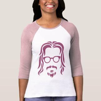 Camisetas Retrato do hipster