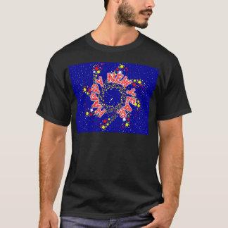 Camisetas Roda do Pin do feliz ano novo