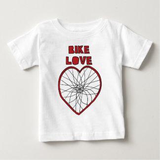 Camisetas Roda dobrada amor da bicicleta (raios pretos)