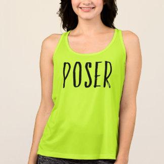Camisetas Roupa da ioga da camisola de alças do exercício