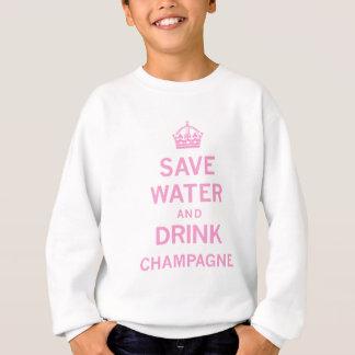 Camisetas salvar o champanhe da bebida da água
