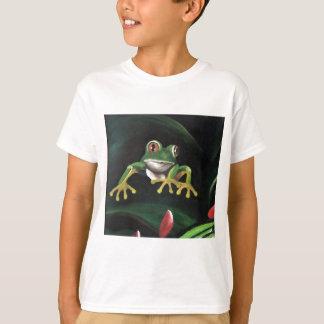 Camisetas Sapo de árvore verde