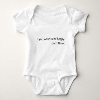 Camisetas se você quer estar feliz, não pense
