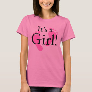 Camisetas Seu uma menina - bebê, recém-nascido, chá de