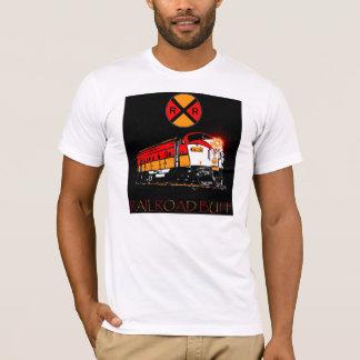 Camisetas Sinal da locomotiva e da estrada de ferro