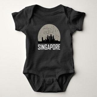 Camisetas Skyline da Lua cheia de Singapore