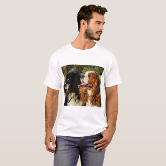 Camisetas Spaniels de rei Charles descuidados