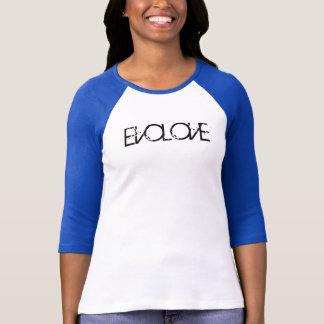Camisetas T do basebol da menina de EVOLOVE