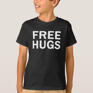 Camisetas T livre dos miúdos dos abraços - miúdos oficiais
