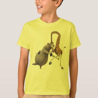 Camisetas Terra arrendada de Gloria e de mão de Melman