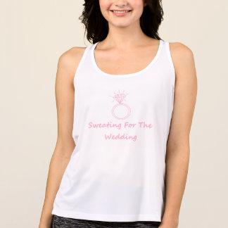 Camisetas Transpiração para a camisola de alças do casamento