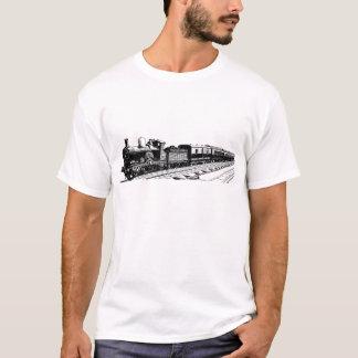 Camisetas Trem do vintage - preto