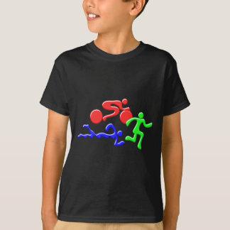 Camisetas TRI figuras design da COR do funcionamento da