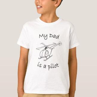 Camisetas Tshirt-Pai do helicóptero da criança