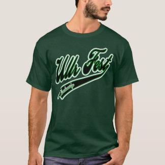Camisetas Verde do logotipo do basebol do Fest de Ullr