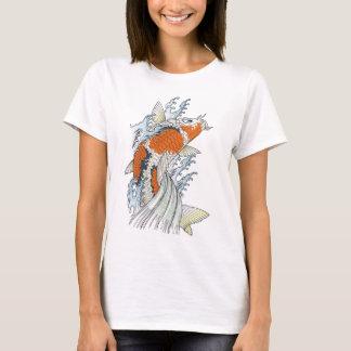 Camisetas Veste do estilo de Tatto da carpa de Koi