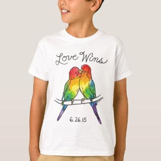 Camisetas Vitórias do amor - pássaros de Budgie