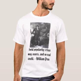 Camisetas William Penn, evita a popularidade; tem muito o