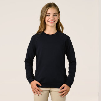 Camisola americana do Raglan do roupa das meninas Camiseta