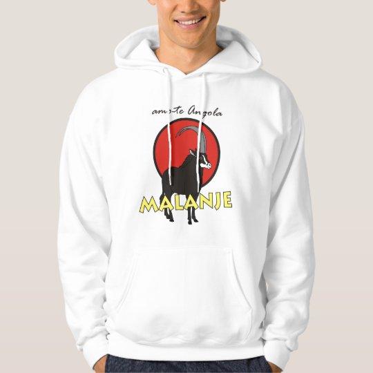camisola com capucho - amo-te Angola - Malanje Moletom