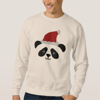 Camisola da panda do papai noel moletom