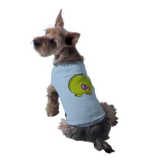 Camisola de alças com nervuras do cachorrinho camisa sem mangas para cachorro
