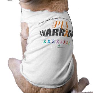 Camisola de alças com nervuras do cachorrinho camiseta