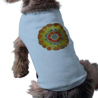 Camisola de alças com nervuras do cachorrinho da camisa sem mangas para cachorro