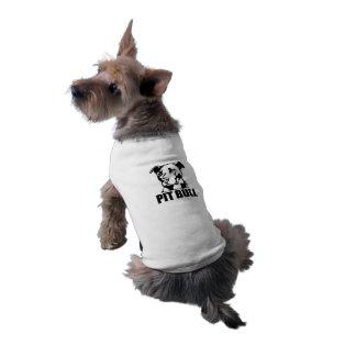 Camisola de alças com nervuras PITBULL do Camisa Sem Mangas Para Cachorro